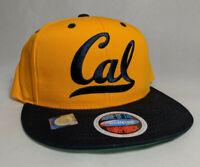 California Cal Golden Bears Eclipse Flat Bill Snapback Baseball Cap Hat OS