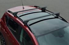 Black Cross Bars For Roof Rails To Fit Peugeot 207 (2006-12) 100KG Lockable