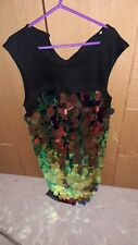 BNWT Girls M&Co Black Huge Sequin Prom / Party Dress Age 13 years