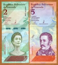 SET Venezuela, 2;5 Bolivares, 15-1-2018, P-New, UNC > Revalued