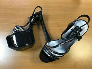 Pleaser Candy 24 Women's Platform Heels Shoes CAN24 Black Patent UK Size 4