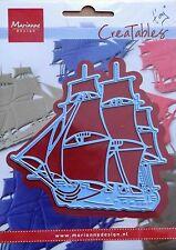 Marianne Creatables Die Cut, barco de vela, Artesanales, elaboración de tarjetas, 0416