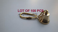 Reproduction Collectible Brass Marine Bell Key Chain Beautiful Lot Of 100 Pcs...