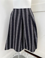 Lane Bryant Black White Polka Dot Pleated A Line Knee Length Skirt Plus Size 20