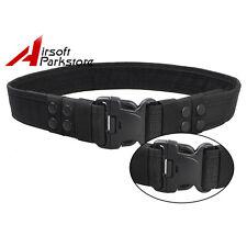 "2"" Tatical Military SWAT Police Security Combat Gear Utility Nylon Duty Belt BK"