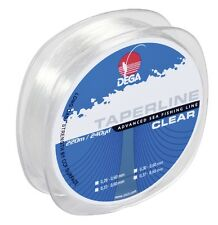 DEGA TAPER LINE SCHLAGSCHNUR klar  0,33 - 0,60mm  220m (0,068€/1m)