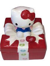 Hello Kitty Jelly Belly Jelly Beans Ceramic Candy Jar Sanrio 2013 EUC
