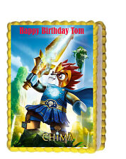 Lego Chima Birthday Party Icing Edible Image Cake Topper 1/4 sheet