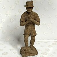 Vintage Hand Carved Wooden OLD COUNTRY German MAN Figure Wood Folk Art
