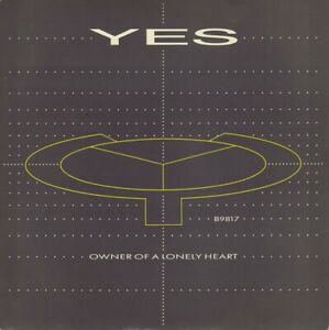 """YES - OWNER OF A LONELY HEART - 1983 - PICTURE SLEEVE - 7"""" SINGLE - FREE UK POST"""