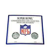 Chef Boyardee Super Bowl Commemorative Coin Collection 1993 1994 Original Card