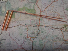 """DOWSING Medium pair of """"SOLID COPPER"""" L-Rod dowsing rods 8"""" with copper sleeves"""
