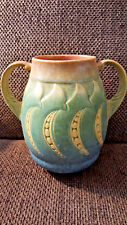 Vintage Roseville Art Pottery Falline Handled Vase