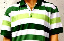 Nuevo Camiseta Polo Hombre Rojo O. VERDE BLANCO RAYAS 4xl 5xl 6xl 64/66