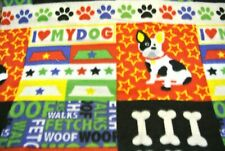 New listing Dog Blanket Poodles Bones I Love My Dog Can Personalize Double Sided 28x22 Red