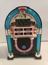 Soundesign Grease Is The Word Jukebox Alarm Clock Lights Music 3162G