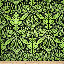 By 1/2 Yard ~ Enchanted Damask Green ~ Free Spirit Jane Sassaman Cotton Fabric