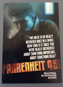 Literature literary postcard Fahrenheit 451 would look great framed