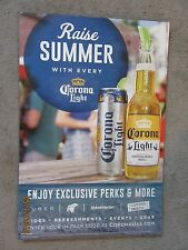 "Corona Extra/Light Beer ""Raise Summer With Every Corona Light"" Cardboard Sign"