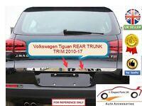 Volkswagen Tiguan Chrome Rear Boot Door Trunk Lid Cover Trim Tailgate (2010-17)