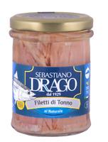 Filetti di Tonno al naturale vaso da 200gr lavorazione artigianale siciliana