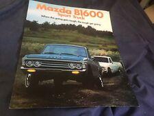 1973 Mazda B1600 Pickups USA Market Color Sales Brochure Catalog Prospekt