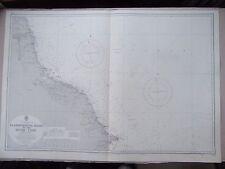 """1969 Flamborough HEAD A River Tyne AMMIRAGLIATO Mappa Mare grafico 28"""" x 41"""" C58"""