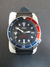 MENS SEIKO 7002-7039 AUTOMATIC DIVE WATCH 200M WITH BLACK RUBBER STRAP KINETIC