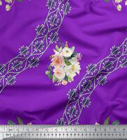 Soimoi Fabric Camellias & Ranunculus Floral Print Fabric by the Yard - FL-1034E