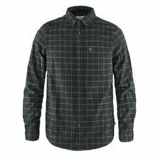 New Fjallraven Ovik Flannel Shirt Dark Grey