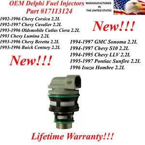 17113124 New Single Delphi Fuel Injector for various 1995-1997 Pontiac Sunfire