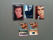 ENRIQUE IGLESIAS,set of 5 Original Backstage passes,Various tours
