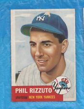 PHIL RIZZUTO 1953 TOPPS #114 PHIL RIZZUTO NEW YORK YANKEES HALL OF FAME ! !