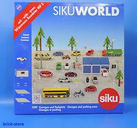 SIKU 5589 / SIKU WORLD / Garagen und Parkplatz mit Fahrzeug