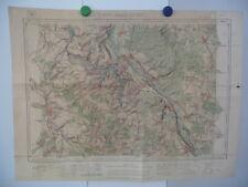 Carte d'Etat Major 1/50 000 - Mirecourt / Charmes - 1910 - Projet de barrage