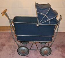 Antique Pram Baby or Toddler Carriage-Stroller TRAV-L-EEZ COACH Mahr-Bufton Blue