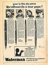 PUBLICITE  1966   WATERMAN  stylos  jeunes vedettes tv ann 60