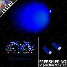 (2) T5 Wedge 5050 SMD Blue Speedometer Gauge Cluster LED Light Bulb 57 37 73 257