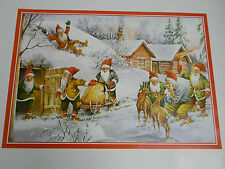 Swedish Christmas Poster Print by Erik Forsman #10322 Gnome Tomte Elf Nisse