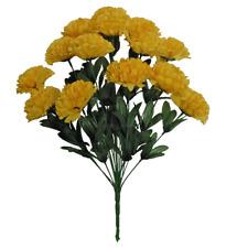 "14-Yellow Carnation 20"" Tall Bouquet Wedding Bridal Party Home Decor Silk Flower"