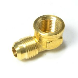 3/8 Male Flare Sae 45 to 3/8 Female Npt L Elbow Fitting Natural Gas Propane Fuel