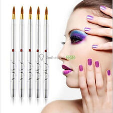 5pcs Portable Makeup Lipstick Retractable Lip Brush Eyeliner Cosmetic Brushes Silver