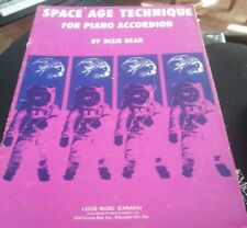 Space Age Technique  For Piano Accordion DIXIE DEAN Songbook Sheet Music