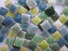"450pcs Mini Mosaic Tiles Green mixture 3/8"" stock in US"