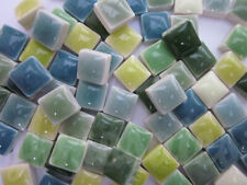 "450pcs Mini Mosaic Tiles Green mixture 3/8"" stock in US"