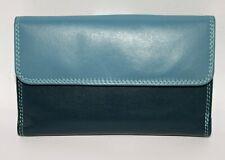 Golunski Leather Tab Bifold/flapover Purse Col Kingfisher Blue  Multis Style 302