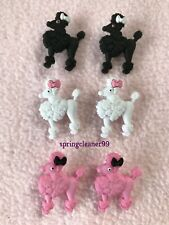 DRESS IT UP BUTTONS ~ POODLES ~  2 EACH OF BLACK ~ WHITE ~ PINK ~ SEWING ~CRAFTS