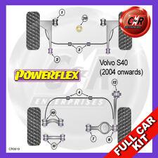 Volvo S40 04on Late Fr Arm Fr 14mm, Fr Arm Rr NoLift+Caster  Powerflex Full Kit