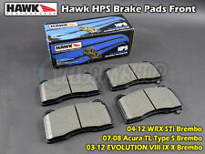 Hawk HPS Brake Pads Front Lancer Evolution VIII IX X Subaru WRX STi 04-12