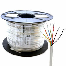100m Alarm Security & Signal Cable 8 Core COPPER Reel White [007275]